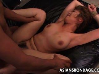 gebunden wird Asian Babe lang und hart gefickt