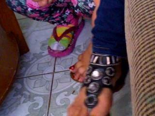 meine 19yr alten Cousin Füße und Sandalen