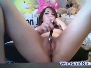 schönes Mädchen masturbiert Zimmer Webcam in öffentlichen Chat