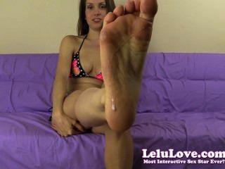 Lelu Liebes dominant spucken Füße Arschloch Anbetung