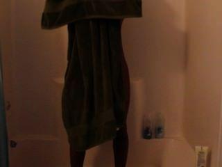 mich in der Dusche ...