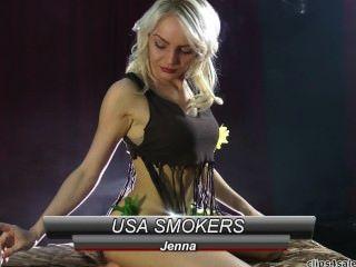 """jenna von """"usa Raucher"""" raucht eine Joint."""