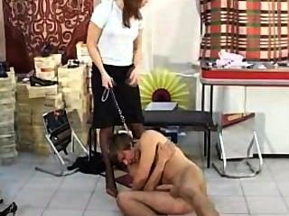 foot Stilett Mann Demütigung Nylon