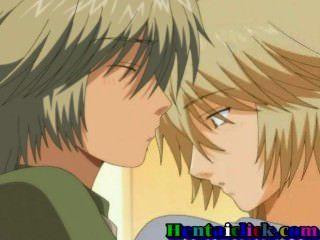 Hentai Homosexuell Junge wird von hinten von seinem hübschen Freund zum ersten Mal genommen