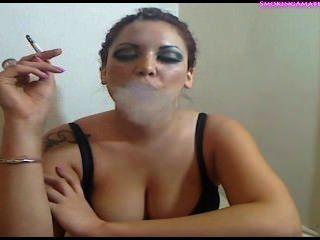 sexy Mädchen Rauch und Teaser - Rauchen Fetisch -