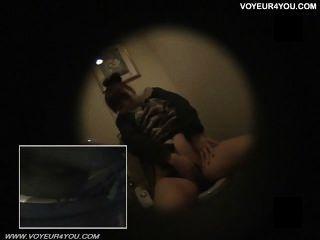 Büro Toilette freches Mädchen Onanie