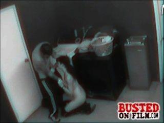 Sicherheit Kamera filmt Pärchen beim Ficken