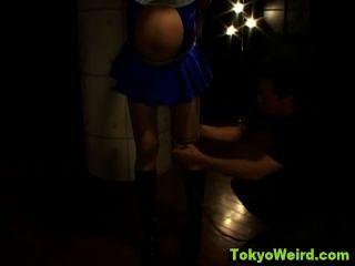 japanisch schwanger Hacke gebunden