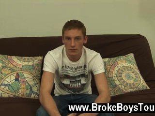 Homosexuell Sex, wie ich ihn filmte, setzte er seine harten Schwanz zu wichsen und