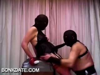 Domina und ihr Sklave