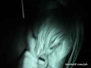 Sexting Nachtsicht Video von Ex-Freundin geben Blasen