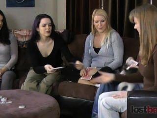 Streifen schrauben Ihr Nachbar mit zayda, lucretia, ashley, elise, und Natalja