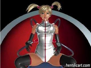 vollbusigen Anime Babe mit Orgasmus Übung