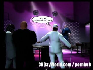 mad öffentlichen Orgie in Homosexuell Club 3D Homosexuell Comics oder Anime Cartoon Geschichte
