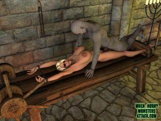 wenn geil Monster Angriff Compilation Video von 3D-Monster der Porno-Clips