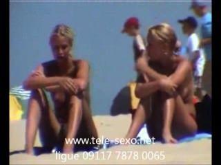 niedliche blonde Mädchen am Strand hidden cam tele-sexo.net 09117 7878 0065