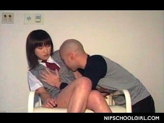 asiatisch Vorspiel für verlockend Highschool-Liebe