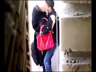 persisch Schlampe Hintern gefickt im Freien, versteckte Aufnahme.