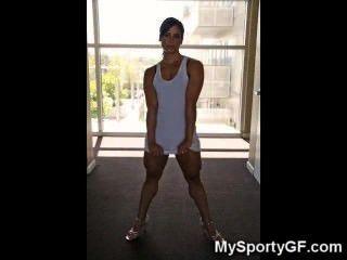 echte heiße muskulösen Turnhalle Mädchen!