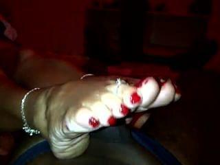 reifen weißen Füße
