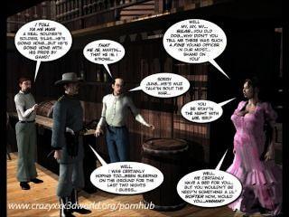 3D-Comic: sechs Pistole Schwestern. Folge 1