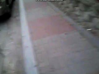 koreanische dick auf der Straße ausgesetzt