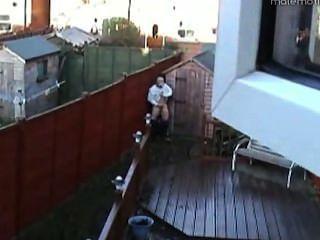 Spy-Cam - Gärtner-Buchsen vom Gartenhaus aus