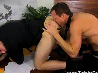 sexy Homosexuell, während alle anderen zum Mittagessen ist duncan und jason genießen