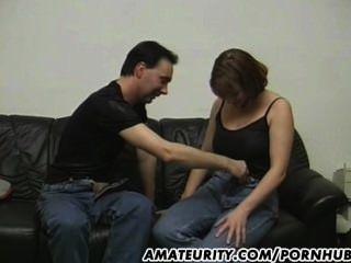 Amateur Paar es für ein Casting zu tun