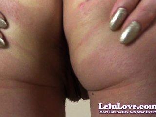 Lelu Liebe-Dildo Pussy Verbreitung Arschloch Kräuseln closeups