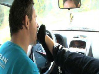 Auto französisch Fetisch Füße lecken