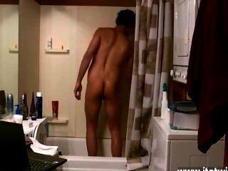 Hot Twink Szene ein paar Jungen aus der Dusche, andere Schlaganfall die jism singen