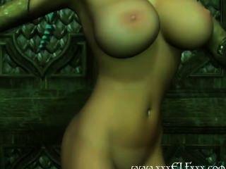 big tits cgi Elf weiß, wie zu necken