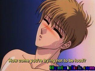 schlank Hentai Homosexuell Twink seine Arschloch geleckt und gefickt von seinem Freund bekommen