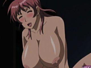 zwei riesige Titted Hentai Babes wird in Dreier gefickt