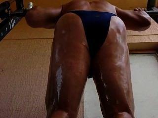 Muskel geölt Training