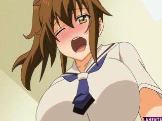 Hentai Schülerin saugt harten Schwanz Jungs und wird gefickt