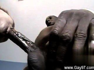 Homosexuell Hahn hing bi guy dee einige Hahn bekommt