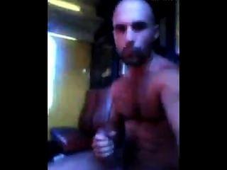 arab Macho behaarte großes Stück in der U-Bahn Rucken