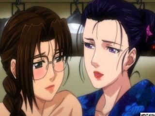 Hentai Lezzy Mädchen, die Sex und wird aufgezeichnet