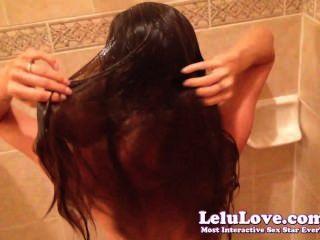Lelu Liebe-pov Dusche Haarewaschen hairjob
