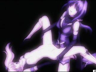 Hentai Mädchen bekommt Pussy und Esel von Transen gefickt