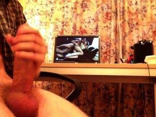 Wichsen und abspritzen ohne Hände