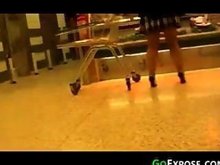 Strümpfe und Fersen im Laden