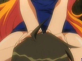 big Titted Hentai Blondie wird im Freien geleckt und gefickt