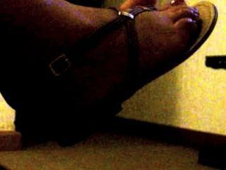 Sperma auf meinen Zehen
