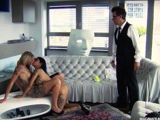 Magma Film lesbische asiatischen und vollbusige Blondine Deutsch Babes Muschi lecken