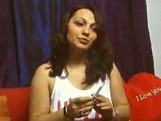 Raucher 2 Zigaretten Webcam Mädchen auf einmal # 4
