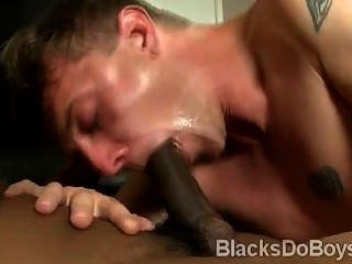 weiß Homosexuell saugt einen schwarzen Schwanz
