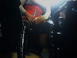 Fleshlight in Oberschenkel hohe Stiefel
